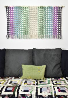 """Amy's """"Global Color Collection"""" is created from hand dyed cotton rope. This collection is inspired from Turkish, Indian and North African cultures. Amy personally hand dyed all the colorful rope in her Chicago studio. Holly Hobbie, Macrame Patterns, Cotton Rope, Ocean Waves, Color Patterns, Amy, Throw Pillows, Crafty, This Or That Questions"""