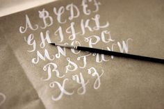 lovely hand lettering, by Alana