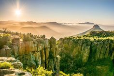 Sunrise of the Valley of desolation