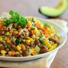 Tex Mex Beans and Rice - Meatless Monday | Jennifer's Kitchen