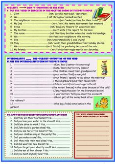 past simple irregular verbs grammar guide and practice worksheet - Free ESL printable worksheets made by teachers English Teaching Materials, Teaching English Grammar, English Grammar Worksheets, Grammar Book, English Vocabulary, Writing Activities, Writing Skills, English Posters, Learn English