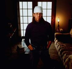 David Foster Wallace in his hometown of Bloomington, Ill. in 1996.