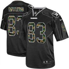 b1b9360fc NFL Oakland Raiders  83 Brandon Myers Elite Black Camo Fashion Men Jersey  Browns Game