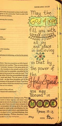 Easy Bible Art Journaling Journey: Romans 15:13 (May 1st)