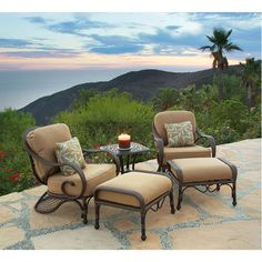Grand Bonaire Weave 5 Piece Club Chair Set