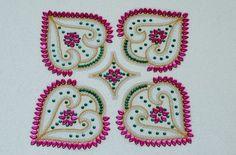 beautiful kundan rangoli designs
