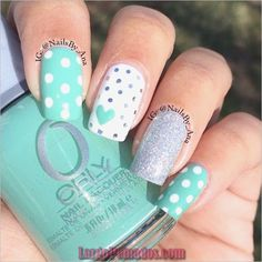 Spring nail colors nail art inspiration for spring time mint nail art, mint Mint Nail Designs, Best Nail Art Designs, Easter Nail Designs, Nail Designs Spring, Spring Nail Colors, Spring Nail Art, Spring Nails, Summer Colors, Summer Fun
