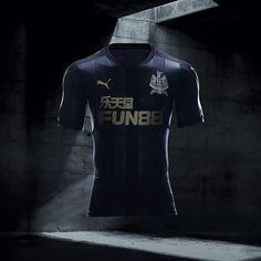 17-18 Newcastle United Third Away Black Soccer Jersey Shirt
