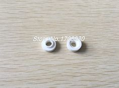 50pcs Electric Wiring Ceramic Insulation Pipe Tube White 15mm 9mm Outside Dia