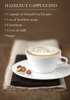 Savor the classic flavors of this Hazelnut Cappuccino recipe from Nespresso for your next indulgent moment. This coffee creation is perfect for serving to house guests! Cappuccino Coffee, Cappuccino Machine, Coffee Cafe, Coffee Drinks, Coffee Gifts, Coffee Humor, Coffee Quotes, Hot Coffee, Iced Coffee