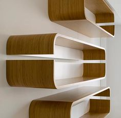 I love the simplicity and rounded edges of these shelves