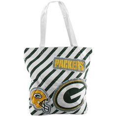 Green Bay Packers Ladies Patches Tote – White/Green