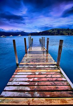 Akaroa Sunset by Pepeketua, via Flickr