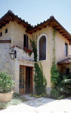 Rustic Italian Home Tuscan Style Homes, Spanish Style Homes, Tuscan House, Spanish House, Spanish Colonial, Style At Home, Style Toscan, Rustic Italian, Italian Home