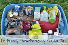 Kid Friendly Storm Survival Tote Complete with Duracell Batteries #PrepWithPower #shop #Cbias #stormpreparation