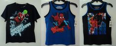 Spider-Man Super Hero Short Sleeve T-Shirt and Tank Tops Boy's SIze 7…