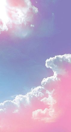 Pastel purple and pink clouds in the sky ● phone background Pink Clouds Wallpaper, Wallpaper Backgrounds, Nature Wallpaper, Pink Glitter Wallpaper, Heaven Wallpaper, Beautiful Wallpaper, Trendy Wallpaper, Computer Wallpaper, Wallpaper Downloads