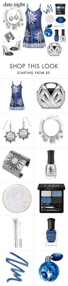 Celestial Date by siriusfunbysheila1954 on Polyvore featuring Oscar de la Renta, Carolina Glamour Collection, Gucci, MILK MAKEUP, Thierry Mugler, Christian Dior, Deborah Lippmann and Charlotte Russe