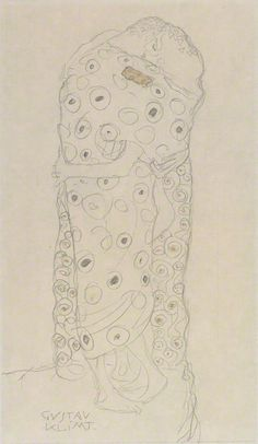 Standing Couple Embracing (Study for The Kiss) / Klimt