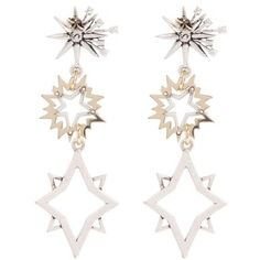 Cosmic Drop Earrings Lulu Frost Liberty ($255) ❤ liked on Polyvore featuring jewelry, earrings, galaxy earrings, drop earrings, lulu frost jewelry, cosmic jewelry and galaxy jewelry