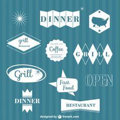 Restaurant Graphic Elements Free Vector
