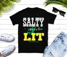Salty and Lit Short-Sleeve T-Shirt, gift, Christian t shirts, Christian apparel, Jesus t-shirts, Christian t-shirts, Inspirational gift #Inspirational #clothing #TShirt #JesusTShirts #ChristianApparel #gift #JesusShirt #Christian #InspirationalGift #SaltyAndLit Christian Apparel, Christian Clothing, Christian Shirts, Cool Tee Shirts, Cool Tees, T Shirt, Jesus Shirts, Inspirational Gifts, Trending Outfits