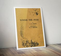 Winnie the Pooh Poster Print First Edition by DareToDreamPrints