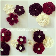 """The difference is in the details"": Big and Small crochet flower free pattern ✿⊱╮Teresa Restegui http://www.pinterest.com/teretegui/✿⊱╮"