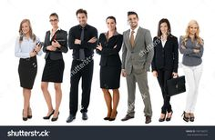 Team Photo Of Successful Young Businesspeople Over White Background, All Smiling Happy. - 199136072 : Shutterstock