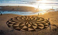 L'arte effimera della spiaggia