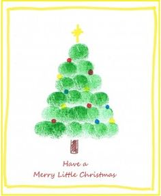 Holiday Crafts with Fingerprints and Footprints Finger print Christmas tree. Or use cotton balls to blot green paint. This would be cute to make, and then scan to print on Christmas cards Preschool Christmas, Christmas Activities, Christmas Crafts For Kids, Christmas Projects, Winter Christmas, Holiday Crafts, Christmas Holidays, Christmas Gifts, Christmas Decorations