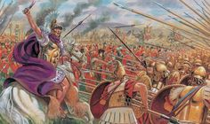 King Pyrrhus.  The phrase Pyrrhic victory is named after Greek King Pyrrhus of Epirus, whose army suffered irreplaceable casualties in defeating the Romans at Heraclea in 280 BC and Asculum in 279 BC during the Pyrrhic War.