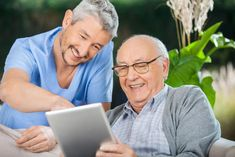 If Home Care Relies on More Technology, How Does That Benefit Seniors?: In recent years, home care has become more reliant on… Home Care Agency, Web 2.0, Male Nurse, Aging Parents, Aging In Place, Home Health Care, Elderly Care, Story Video, Assisted Living