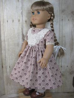 18 Inch Doll Clothes American Girl 1850s Burgandy by nayasdesigns, $22.00