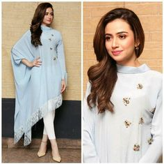Sana knows how to slay and she never leaves a question for critics. So, take a look at Sana Javed Biography and many other exciting stuff. Pakistani Dress Design, Pakistani Outfits, Indian Outfits, Indian Designer Outfits, Designer Dresses, Stylish Dresses, Casual Dresses, Stylish Clothes, Hijab Fashion