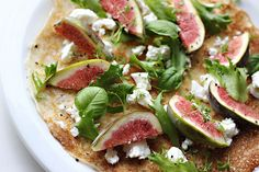 Fig and goat cheese crepe