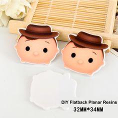 50pcs/lot Kawaii Hat Baby Boy Flat Back Resins for Hair Bows DIY Crafts Cartoon Planar Resin for Holiday &Phone Decoration