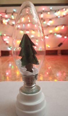 DIY Christmas Light bulb Diy Christmas Lights, Christmas Light Bulbs, Christmas Diy, Xmas, Snow Globes, Home Decor, Christmas Bulbs, Decoration Home, Room Decor