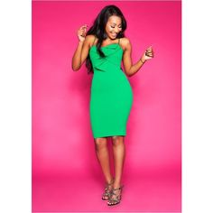 Courtney Green Bow Front Midi Dress (2.035 RUB) ❤ liked on Polyvore featuring dresses, green midi dress, calf length dresses, midi day dresses, pink bow dress and mid calf dresses