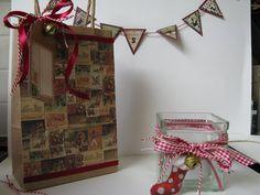 giftbag, candle and bunting