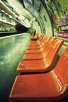 Many memories of trips on the metro.
