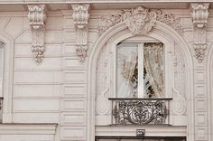 Paris Photograph Baroque Window Classic Black and White Photo Neutral Home Decor Wall Art French Architecture French Architecture, Classical Architecture, Beautiful Architecture, Historic Architecture, Architecture Details, Paris Photography, Photography Photos, Wall Decor, Wall Art
