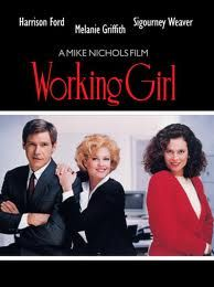 WORKING GIRL: Directed by Mike Nichols. With Melanie Griffith, Harrison Ford, Sigourney Weaver, Alec Baldwin. When a secretary's idea is stolen by her boss, she seizes an opportunity to steal it back by pretending she has her boss's job. Melanie Griffith, Alec Baldwin, Harrison Ford, 80s Movies, Movies To Watch, Good Movies, Film Watch, Love Movie, Movie Tv