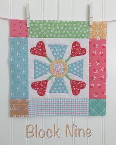 Bloom Sew Along Block 9 - tutorial at Bee in My Bonnet #iloverileyblake #fabricismyfun