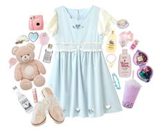 Baby soft by bunni-bones on Polyvore featuring Bass, Hot Topic, Forever 21 and Fujifilm