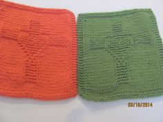 Heart and Cross Dishcloth Hand knitted Gift by AMailys on Etsy, $5.00