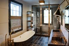 Sag Harbor Bathroom by Steven Gambrel