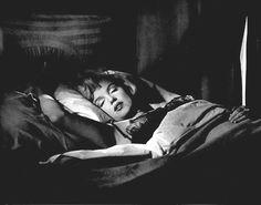 "Marilyn Monroe sleeping on the train in ""Some Like it Hot"" release date March 29, 1959"