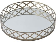 The ornate mirrored style tray is part of our range of metal vases, bowls and dishes that add a subtle shine to your home. If you like the look of this metal mirrored tray you might also want to take a look at these other items, similar in style to the ornate antique gold tray shown...