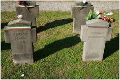 Tiberio Maria, civile, di anni 15 e Tiberio Pasquina di anni 17, Ausiliaria S.A.F. fucilate dai partigiani il 3 maggio 1945 a Milano - Cimitero Maggiore, Campo X, Campo dell'Onore
